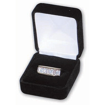 Velvet Single Ring Box - Jewel Box Co