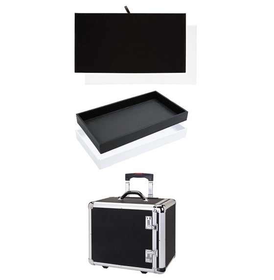 Rolling Case with Trays & Inserts - Jewel Box Co