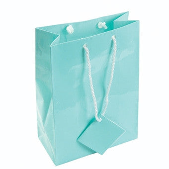 "8"" x 10"" Glossy Teal Blue Tote Bag - Jewel Box Co"