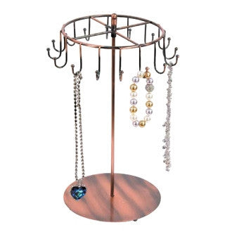 Copper Finish Metal Necklace Display - Jewel Box Co