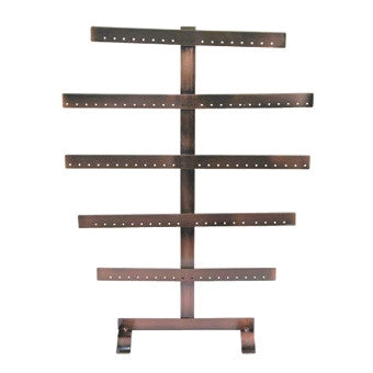 Copper Finish Metal Earring Stand - Jewel Box Co