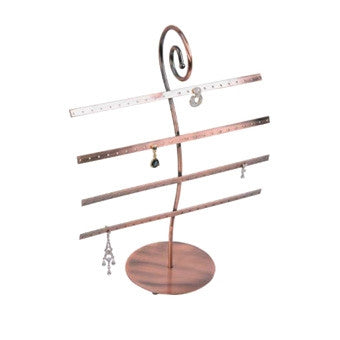 Copper Finish Metal Earring Display - Jewel Box Co