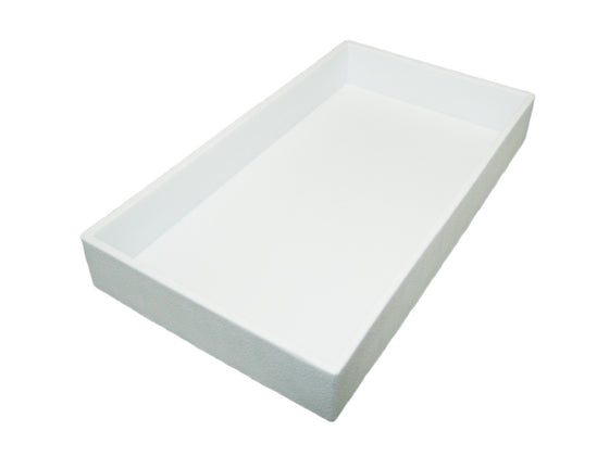 "2"" White Plastic Stackable Utility Tray - Jewel Box Co"