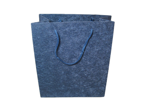 Sparkle Blue Deluxe Material Jewelry Gift Bag - Jewel Box Co