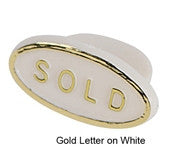Sold Sign Plug For Ring Inserts - Jewel Box Co