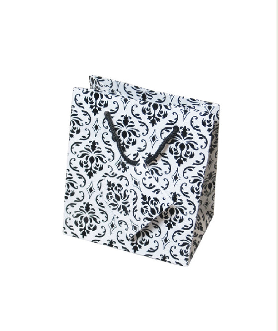 "3"" x 3"" Damask Jewelry Gift Bag - Jewel Box Co"