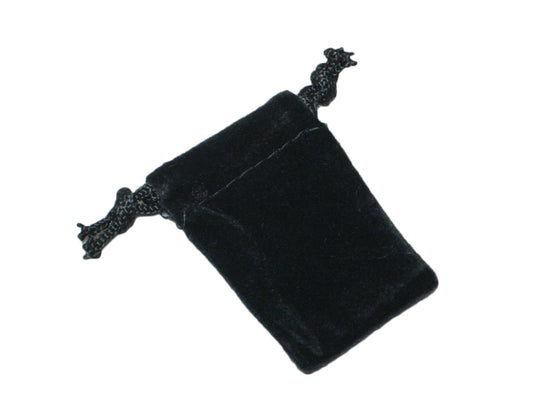 "2"" x 1"" Black Velvet Drawstring Pouches - Jewel Box Co"