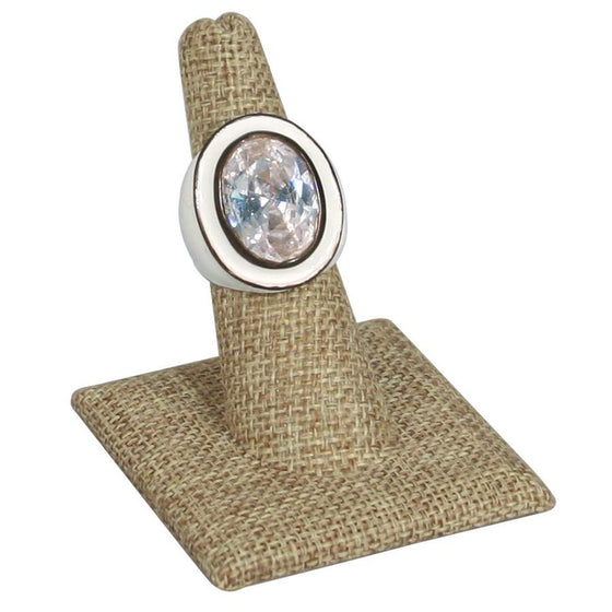 Burlap Finger Ring Stand - Jewel Box Co