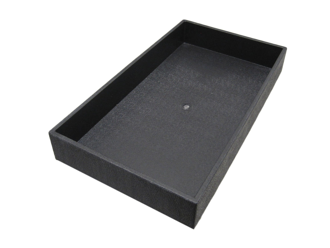 "2"" Black Plastic Stackable Utility Tray - Jewel Box Co"