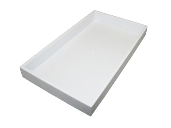 "1.5"" White Plastic Stackable Utlity Tray - Jewel Box Co"