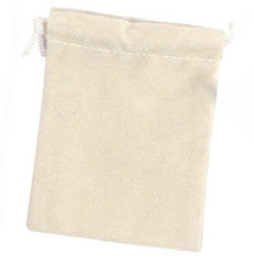 "3"" x 4"" Beige Suede Drawstring Pouch - Jewel Box Co"