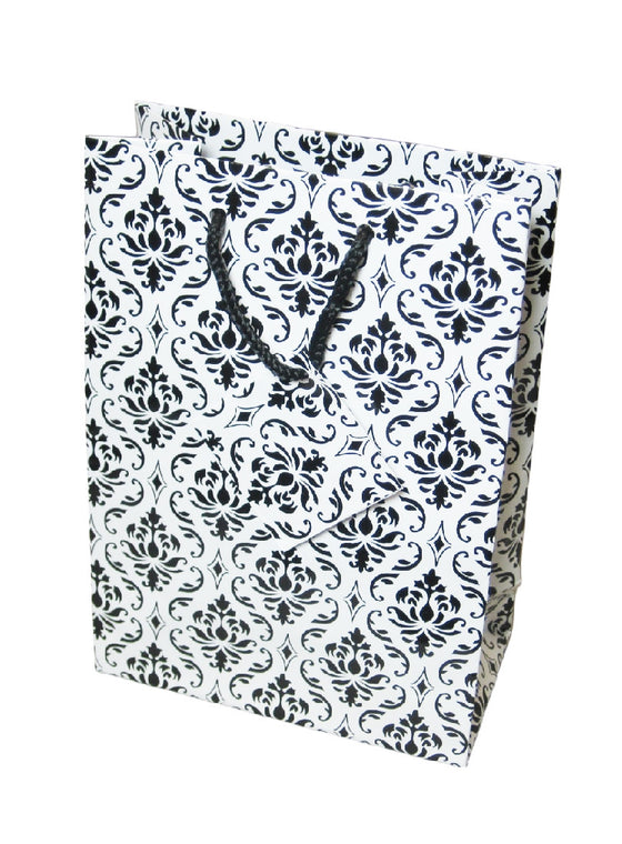 "6"" x 4"" Damask Jewelry Gift Bag - Jewel Box Co"