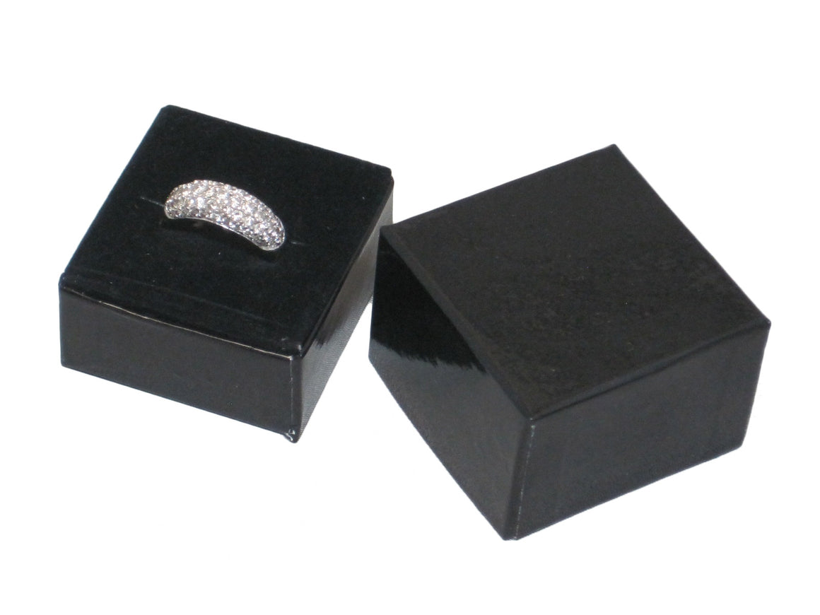 Glossy Black Single Ring Hat Box - Jewel Box Co