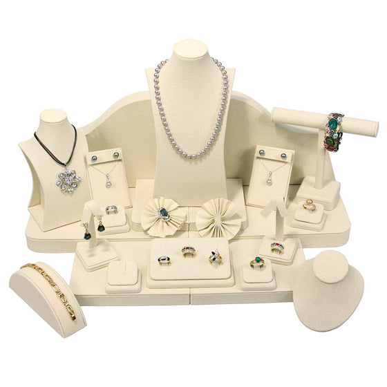 23 Piece Linen Showcase Display Set - Jewel Box Co