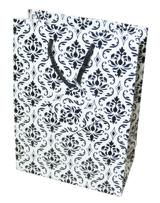 "9"" x 7"" Damask Jewelry Gift Bag - Jewel Box Co"