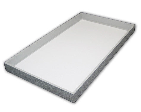 "1.5"" Grey Leatherette Tray - Jewel Box Co"