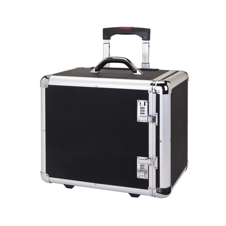 Front Access Aluminum Carrying Case With Wheels - Jewel Box Co