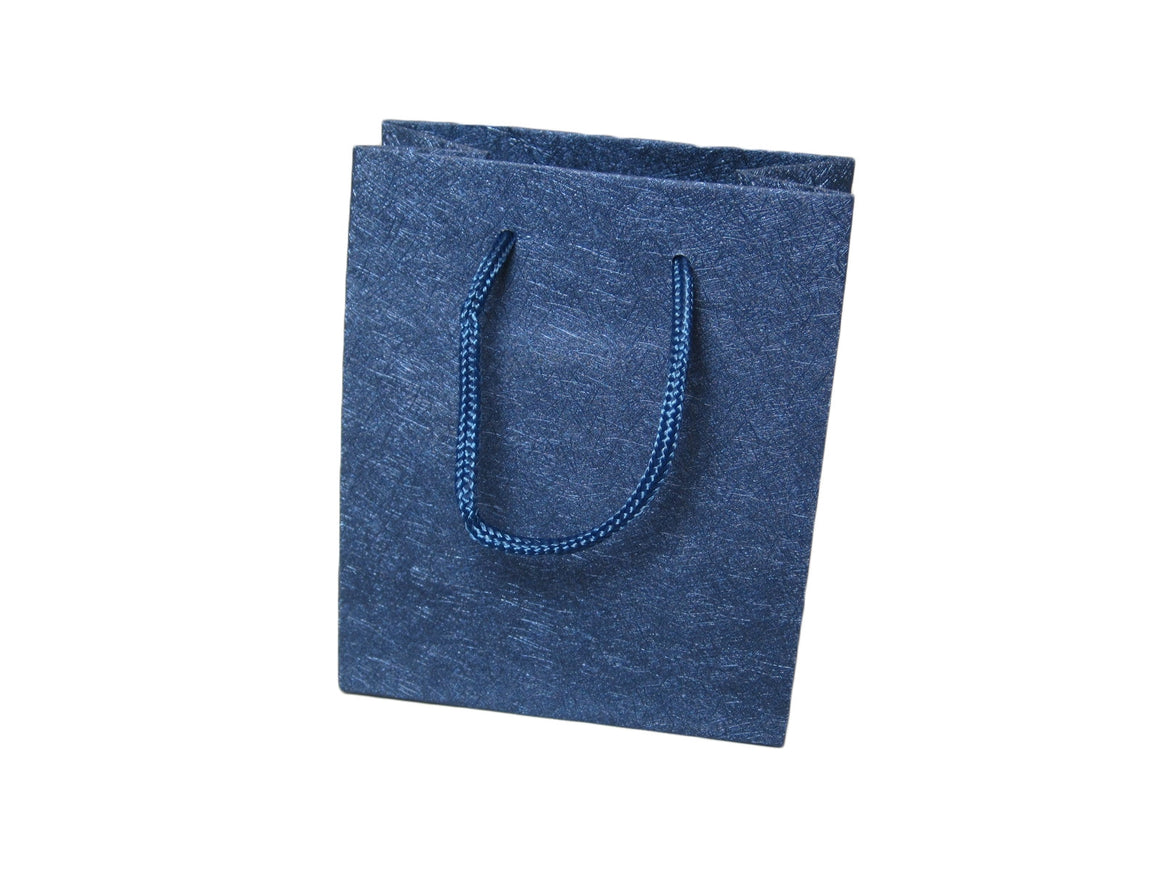 "5 3/8"" Sparkle Blue Deluxe Material Jewelry Gift Bag - Jewel Box Co"