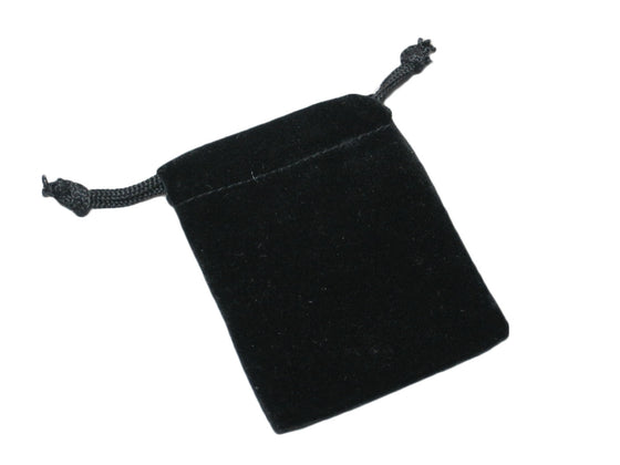 "2"" x 3"" Black Velvet Drawstring Pouches - Jewel Box Co"