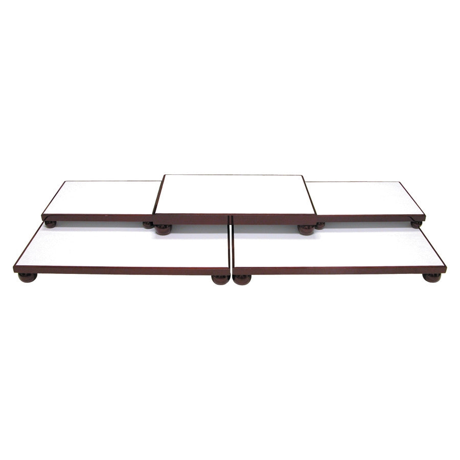 5 Piece Rosewood Jewelry Showcase Platform - Jewel Box Co