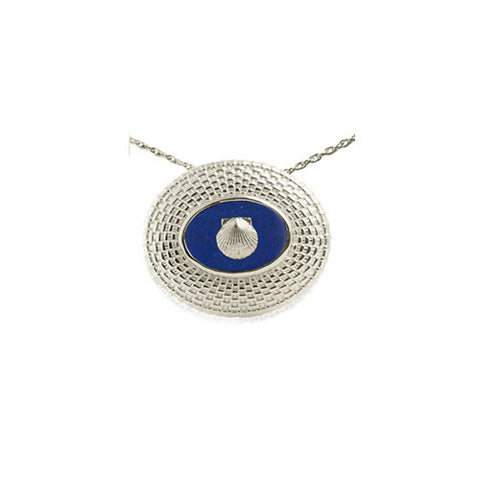 Large Sterling with Lapis Lazuli Nantucket Basket Pendant