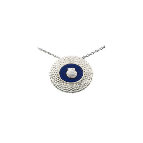 "Oval 3/4"" Sterling Nantucket Basket Necklace"