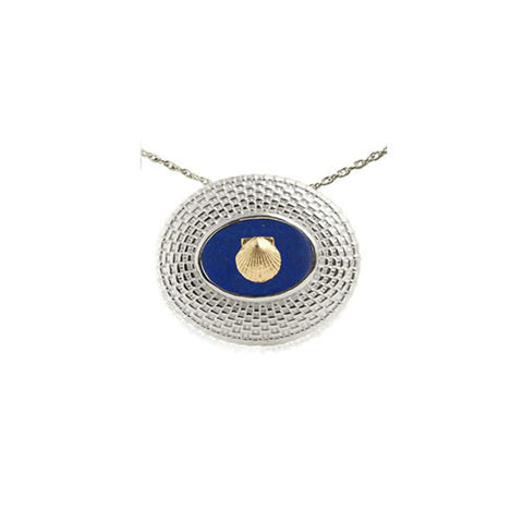 Large Nantucket Basket Pendant with 14K Shell