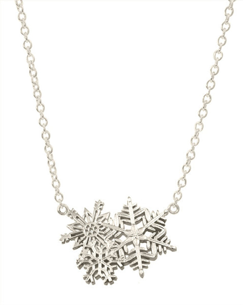 Sterling Snowflakes on Attached Chain