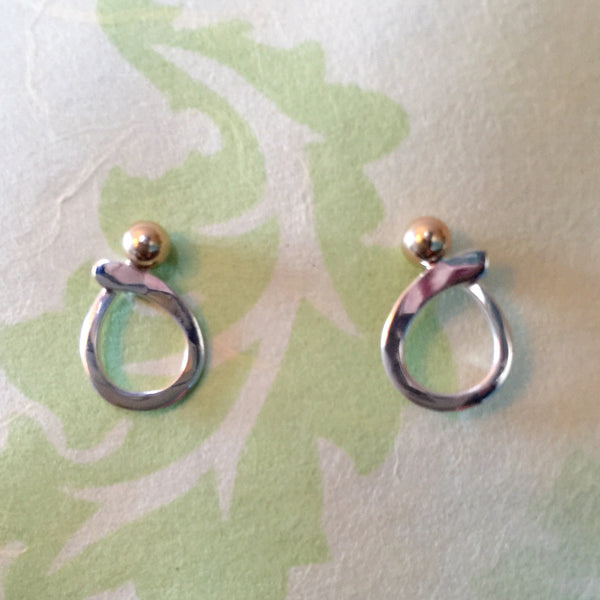 14K and Sterling Post Earrings