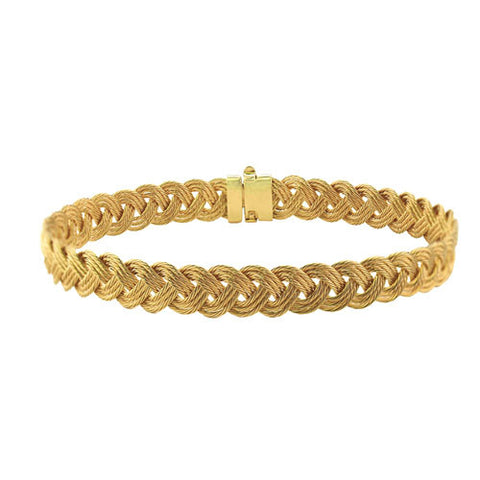 14K Gold Braided Turk's Head Bracelet