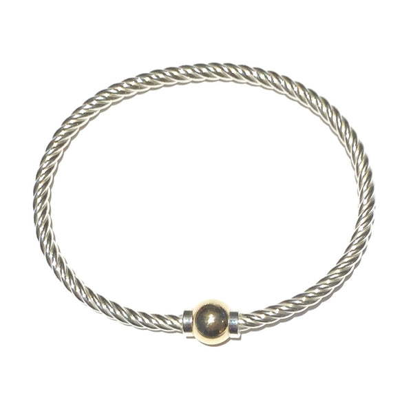 Classic Bracelet with 14K Gold Ball Closure
