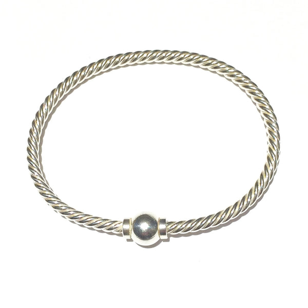 Classic Bracelet of Sterling with Ball Closure