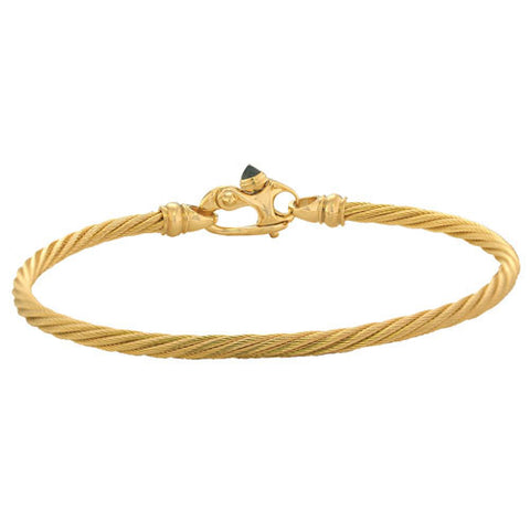14K Gold Bracelet with Sapphire Clasp