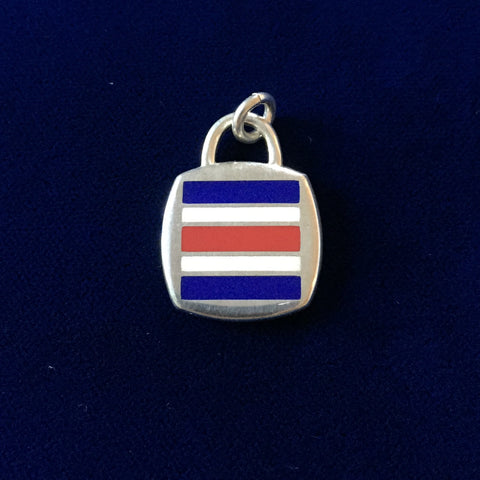 Sterling Silver Code Flag: charlie