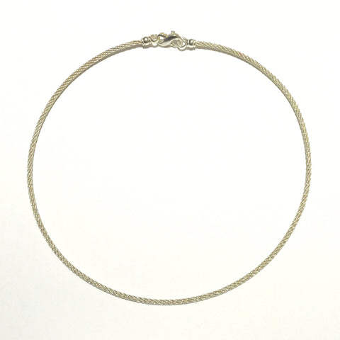 Sterling Cable Necklace