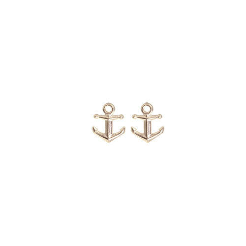 14K Gold Anchor Post Earrings