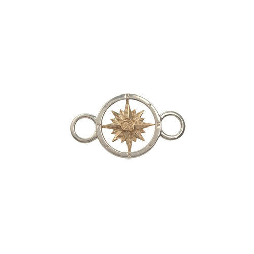 Sterling and 14K Compass Rose Swap Top