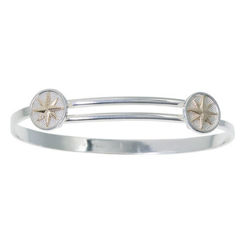 Slip-on Bangle Compass Rose Bracelet