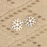 Sterling Silver Snowflake Earrings