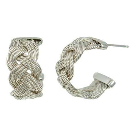 Sterling Braided Cable Hoops