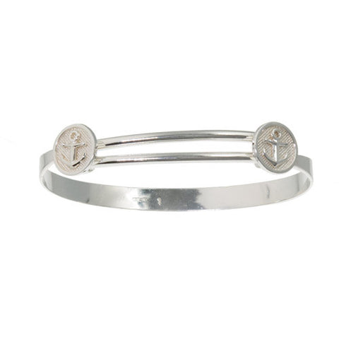 Slip-on Bangle Anchor Motif Bracelet