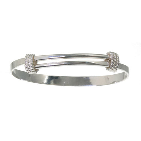 Slip-on bangle with Rope Coils