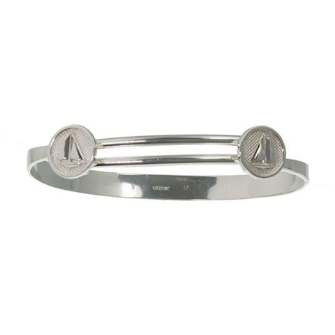 Slip-on Bangle with Sailboats