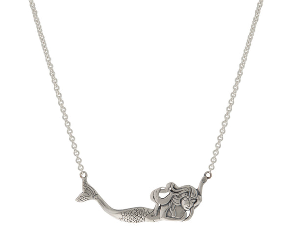 Sterling Mermaid Necklace