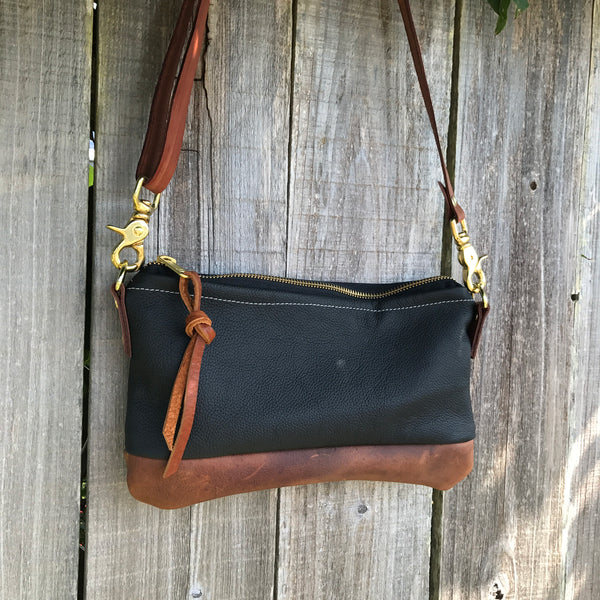 The Willamette Crossbody- leather - Meant Mfg.