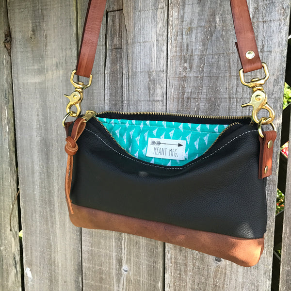 The Willamette Crossbody in Leather - Meant Mfg.