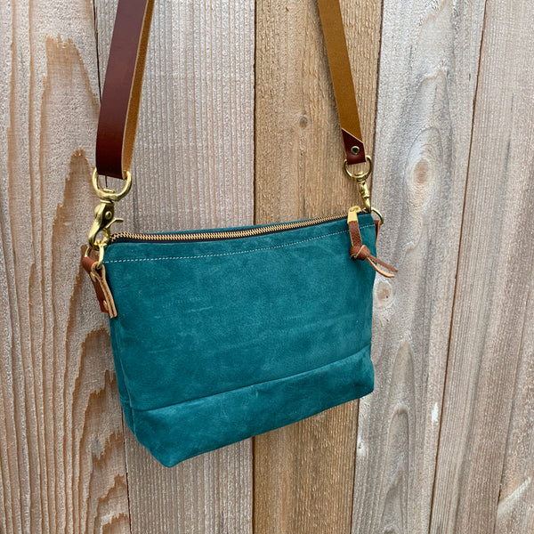 The Sutton Crossbody in Suede and Leather - Meant Mfg.