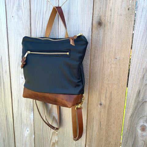Rogue Mini Backpack in Leather - Meant Mfg.