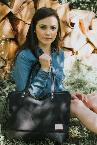 The Mercer Tote in Waxed Canvas-3 colors-