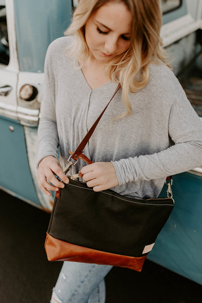 The Alsea Crossbody in Full Grain Leather - Meant Mfg.